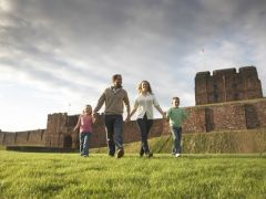 Families enjoy the Heart of Hadrian's Wall